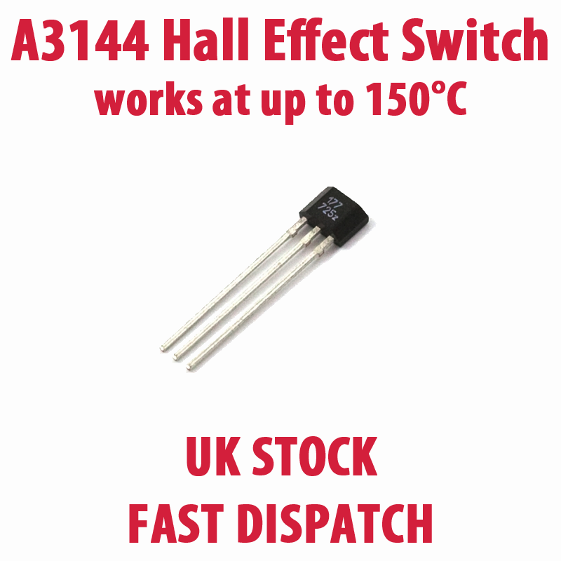 A3144 A3144e 44e 938 Hall Effect Sensor Switch Magnetic